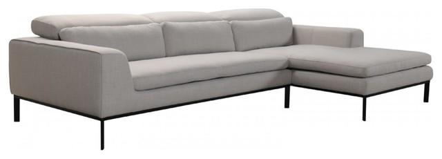 VIG Furniture, Divani Casa Clayton Modern Fabric Sectional Sofa