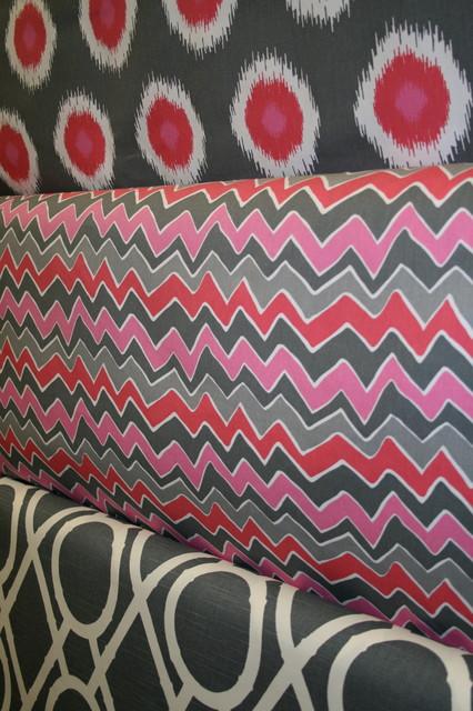 Pink and Grey Fabrics