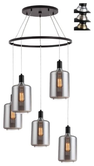 Woodbridge Lighting Blake 5-Light Pendant Chandelier with ST64 Bulb