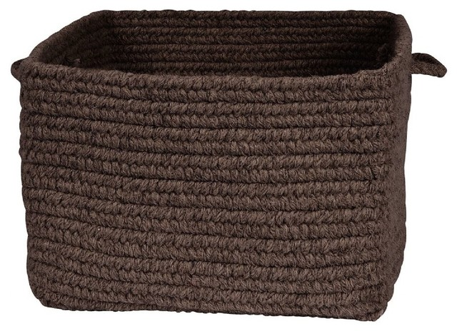 Cube Storage Chunky Natural Wool Square Baskets Square Brown Basket  Contemporary Baskets