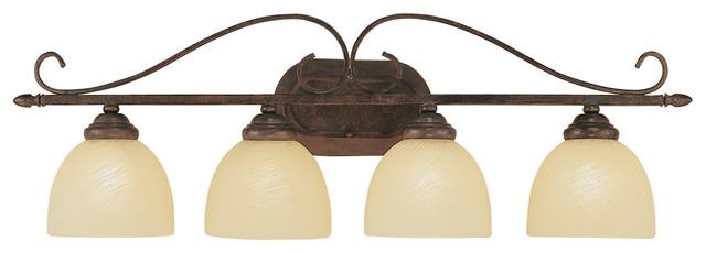 Brushed Nickel 2 Globe Vanity Bath Light Bar Interior: Trans Globe 7214 ROB 4-Light Bath Bar