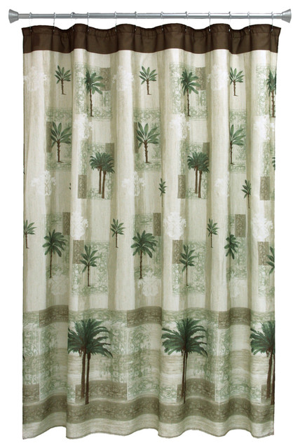 Citrus Palm Shower Curtain Tropical Shower Curtains By Bacova Guild