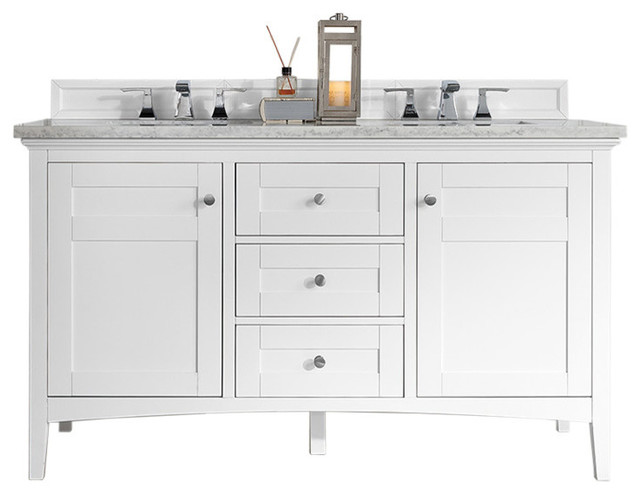 James Martin Palisades 60 Double, Double Sink Bathroom Vanity Without Top