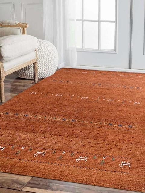 Rugsotic Carpets Hand Knotted Loom Wool 10'x10' Area Rug, Orange