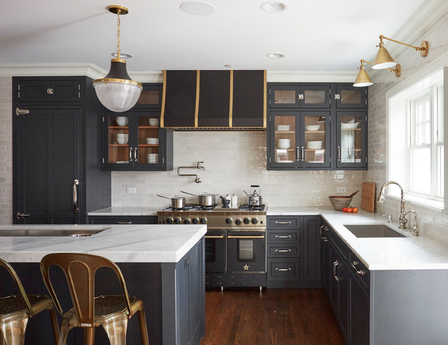 6 Hardware Styles To Pair With Deep Blue Shaker Cabinets