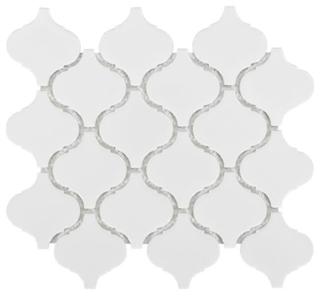 10 95 X11 4 Arabesque Lantern Beacon Porcelain Mosaic Wall Tile Mediterranean