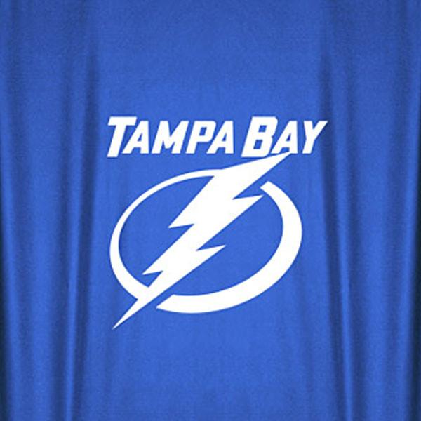 Nhl Tampa Bay Lightning Hockey Locker Room Shower Curtain