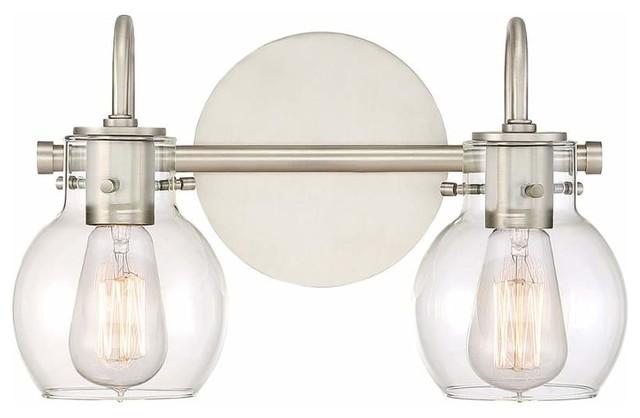 Progress Lighting Archie 3 Light 8 75 In Polished Chrome: Quoizel 2 Light Standard Bulb Bath Vanity Light, Antique