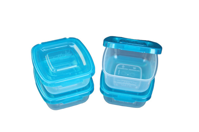 4 Piece Half Cup Storage Container Set With Patented Permanently Attached  Lids Traditional Food