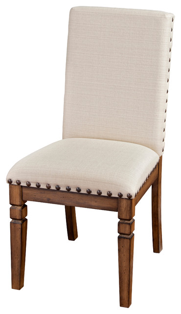 Beau Cornerstone Nailhead Side Chair With Cushion