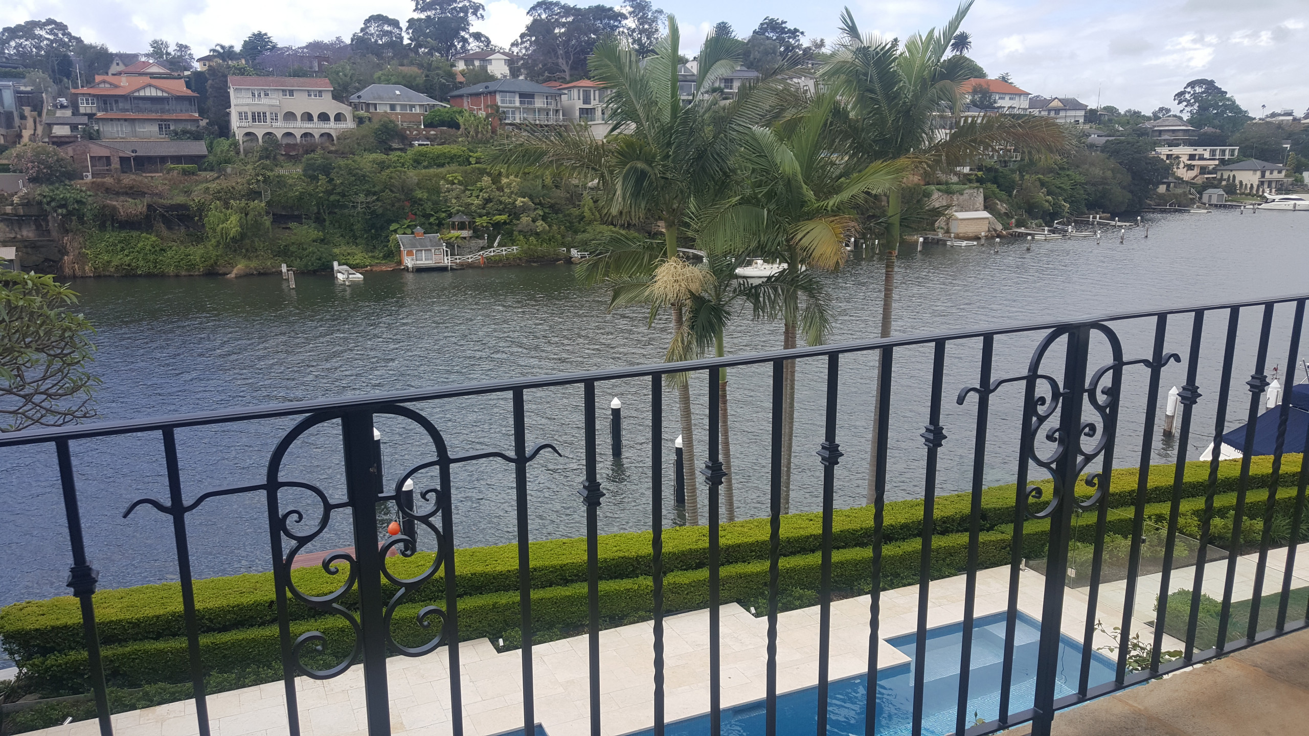 Outdoor spaces, swimming pools, tennis courts, moorings
