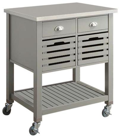 Mercer Kitchen Cart, Gray.