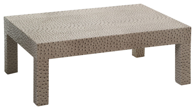 Premier Housewares Faux Ostrich Leather Coffee Table Modern Coffee Tables