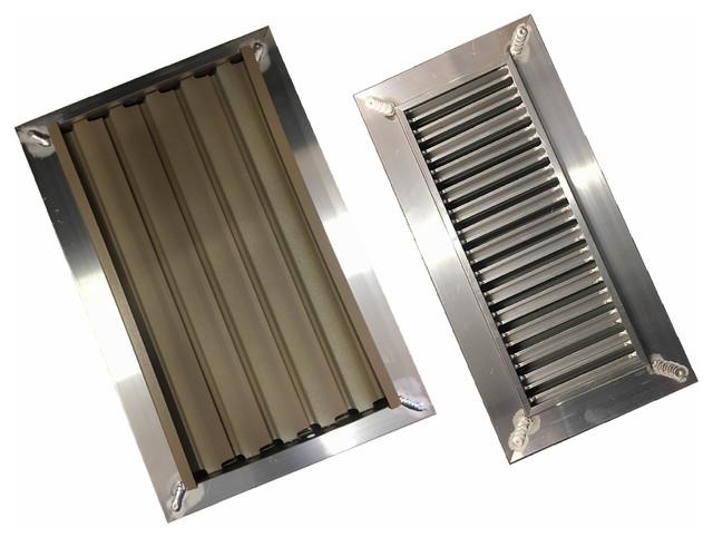 "Chameleon Tile And Hardwood Vent Floor Registers With Air Dumper, 4""x10"", 5/16."