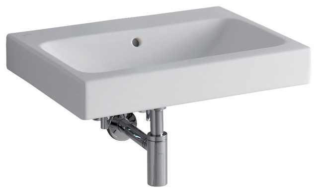 Icon 24 Wall Mounted Or Drop-In Bathroom Ceramic Sink With Overflow.