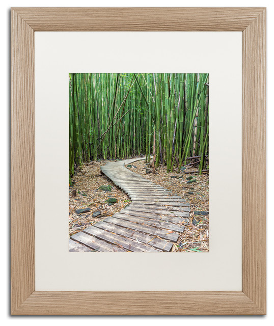 Pierre Leclerc \'Hiking Through The Bamboo Forest\' Matted Framed Art ...