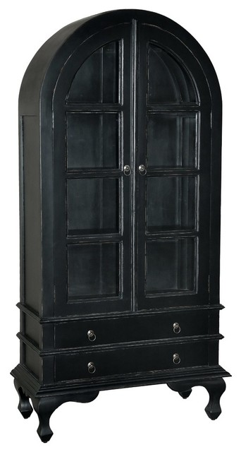 ... Cabinet, Light Distressed Black traditional-china-cabinets-and-hutches