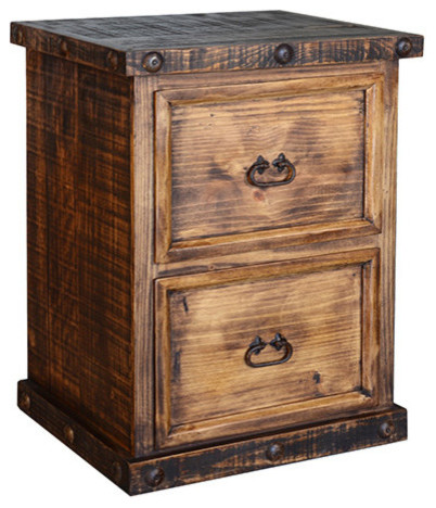 Rustic 2 Drawer File Cabinet - Rustic - Filing Cabinets - by san carlos imports llc