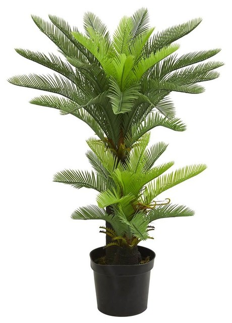 Double Potted Cycas Artificial Tree in Green