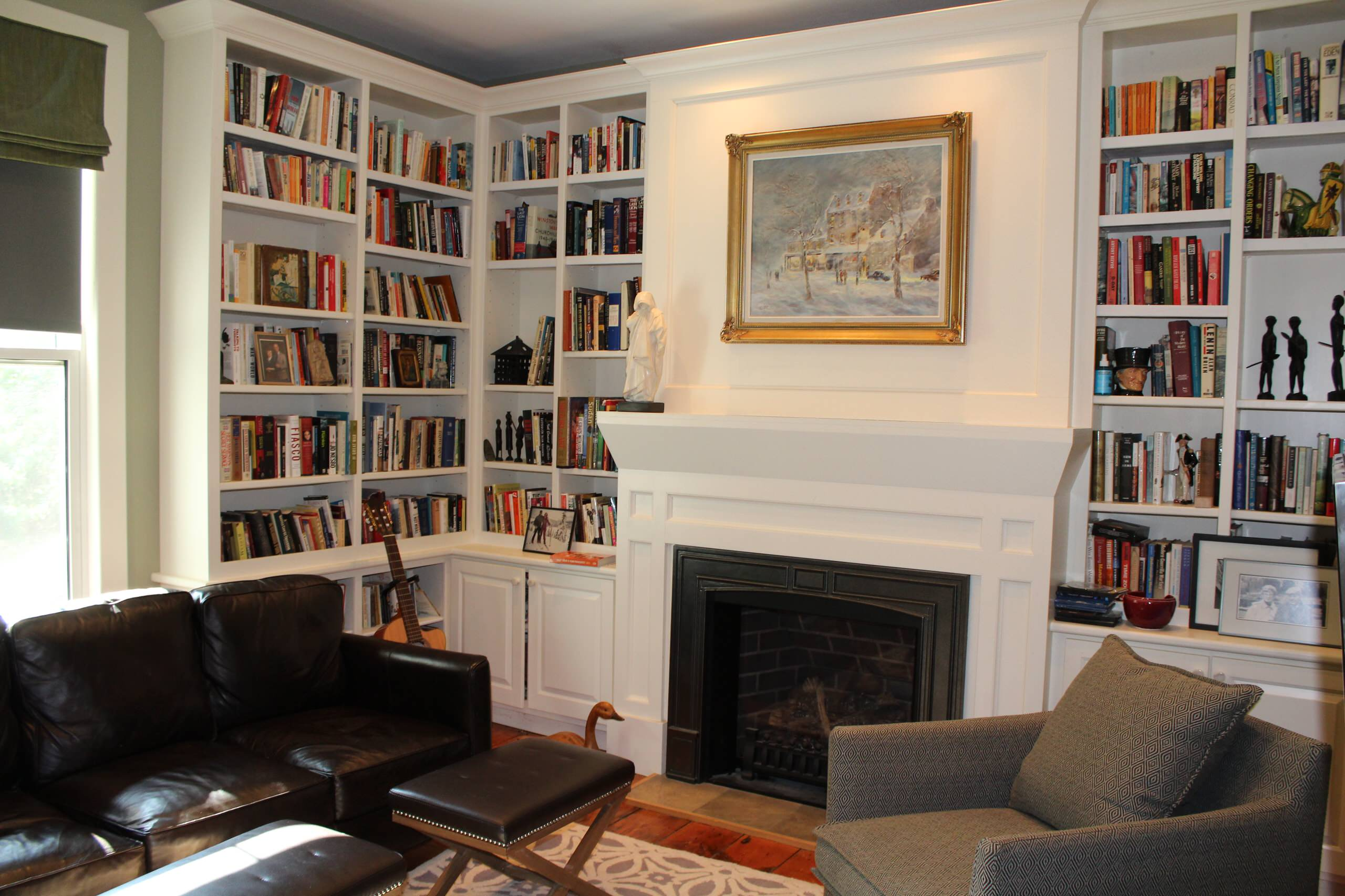 residential space plans- farmhouse library picture
