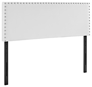 Phoebe Full Upholstered Vinyl Headboard, White
