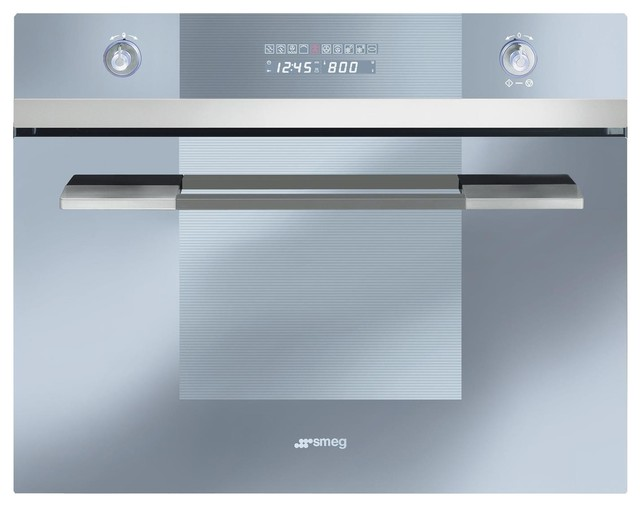 "Smeg Linea Design Series 24"" Electric Single Wall, Stainless Steal."