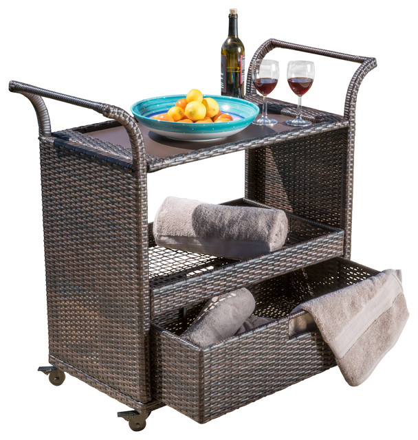 High Quality Tropical Outdoor Serving Carts By GDFStudio