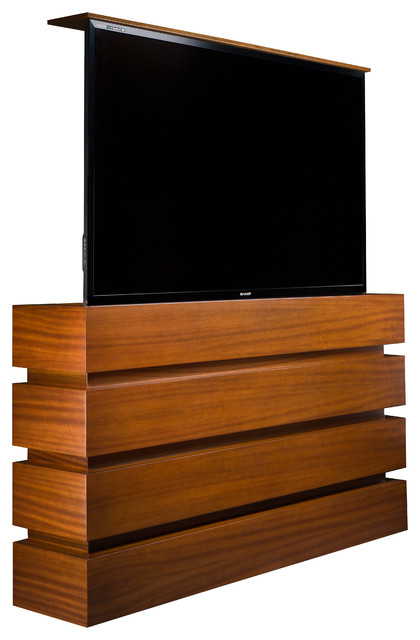 TV lift cabinet holds large 60 to 90 inch flat screen TVs - Modern - Accent Chests And Cabinets ...