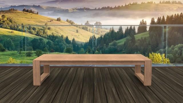 Brixton Table, Natural Weathered Teak