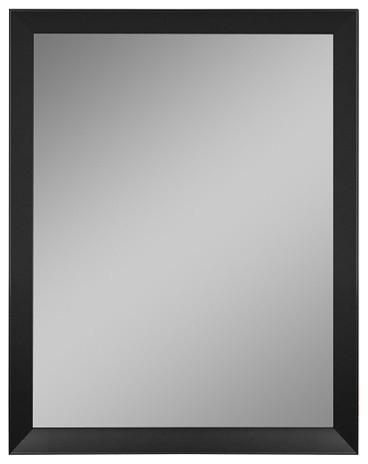 "Ballantyne Angle Iron Black Wall Mirror 28.75""w X 40.75""h."