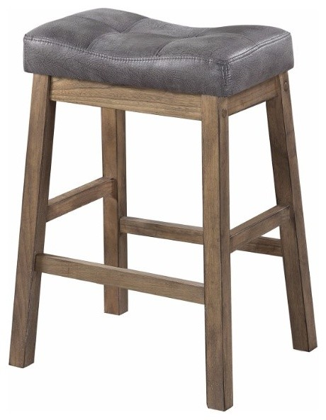 Magnificent Wooden Rustic Backless Counter Height Stool Gray Brown Set Of 2 Cjindustries Chair Design For Home Cjindustriesco