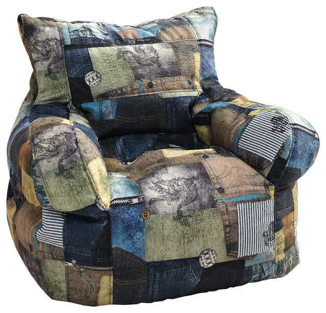milton greens stars small print arm chair bean bag patches view in your room houzz. Black Bedroom Furniture Sets. Home Design Ideas