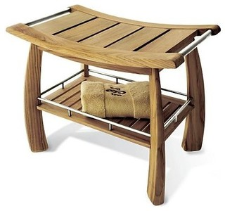 ToiletTree Products - Deluxe Bamboo Shower Bench - View in Your ...