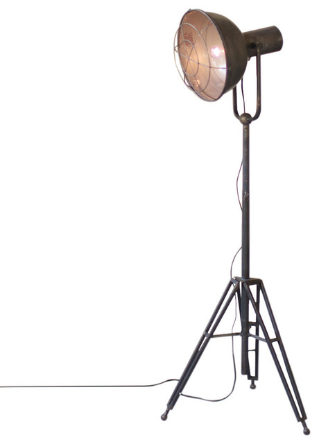 Vintage Style Caged Studio Lamp.