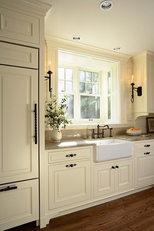 Off white kitchen what color wood floors for What kind of paint to use on kitchen cabinets for wall art sales