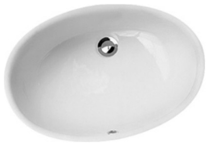 Gio White Oval Undermount Ceramic Sink Bowl Sink Lavatory Washbasin.