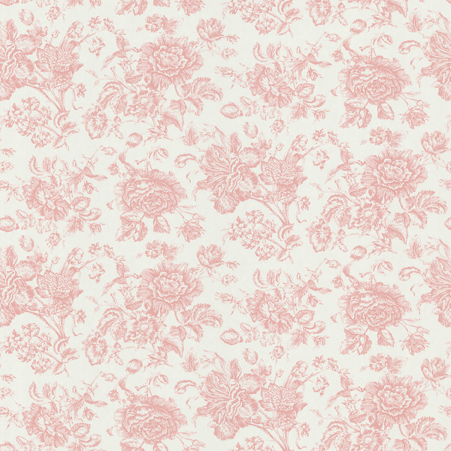 Brewster Brewster Pink Floral Toile Wallpaper View In