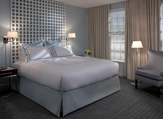 by Marie Grabo Designs. Great Color  Soothing Blue Gray in the Bedroom