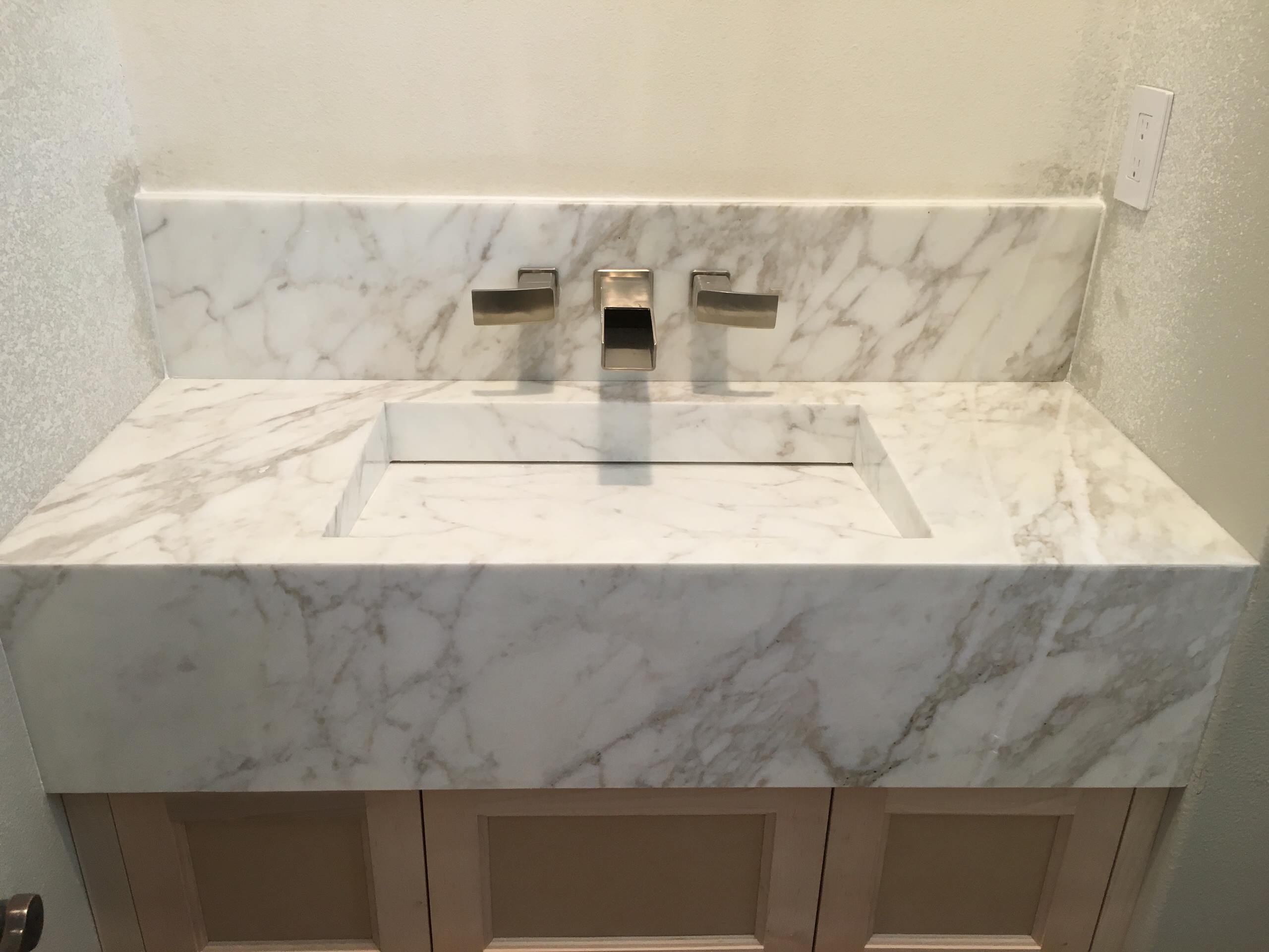 Intergrated Marble Sink
