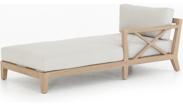 Harold Outdoor Right-Arm Chaise Piece - Light Grey