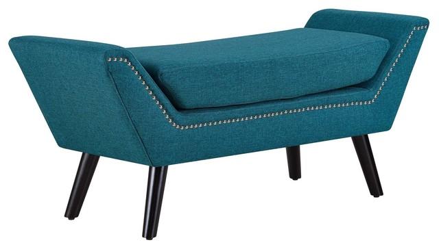 Gambol Upholstered Fabric Bench.