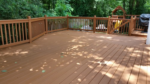 This Deck Is Wrapped In A Solid Stain From Sherwin