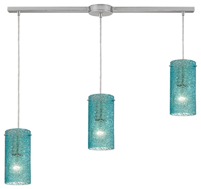 Elk ice fragments 3 light pendant view in your room houzz ice fragments 3 light pendant satin nickel and aqua glass contemporary pendant mozeypictures Choice Image