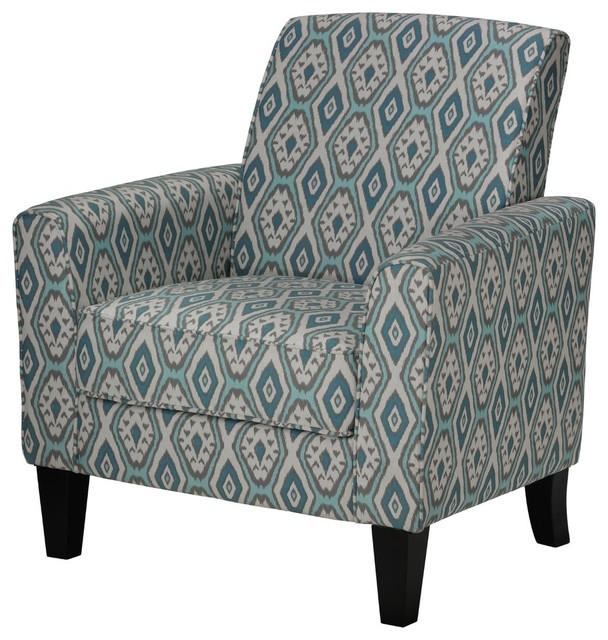 Incroyable Cortesi Home Tali Blue Diamond Arm Accent Chair
