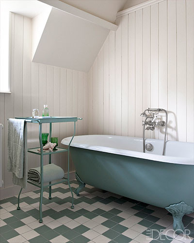 French Country Farmhouse Bathroom With Winckelmans Tiles
