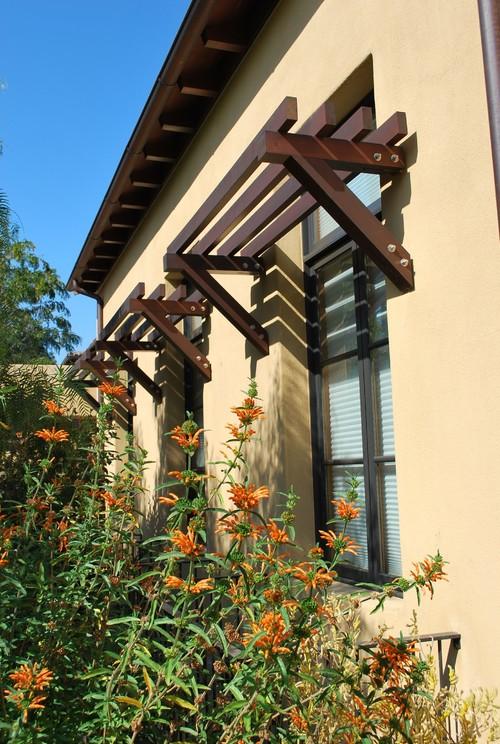 Great exterior window shading idea!