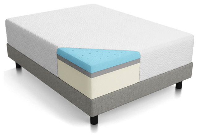 "Fantasy 14"" Triple Layer Memory Foam Mattress, Queen."