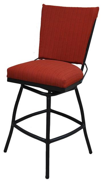 Phenomenal Jenna Armless 30Inch Bar Height Outdoor Swivel Bar Stool Chocolate Rainbow Ocoug Best Dining Table And Chair Ideas Images Ocougorg