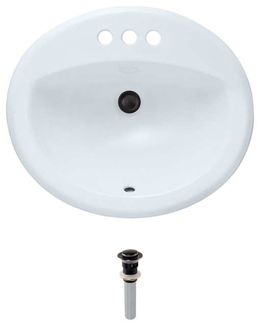 direct o2018 overmount porcelain sink transitional bathroom sinks