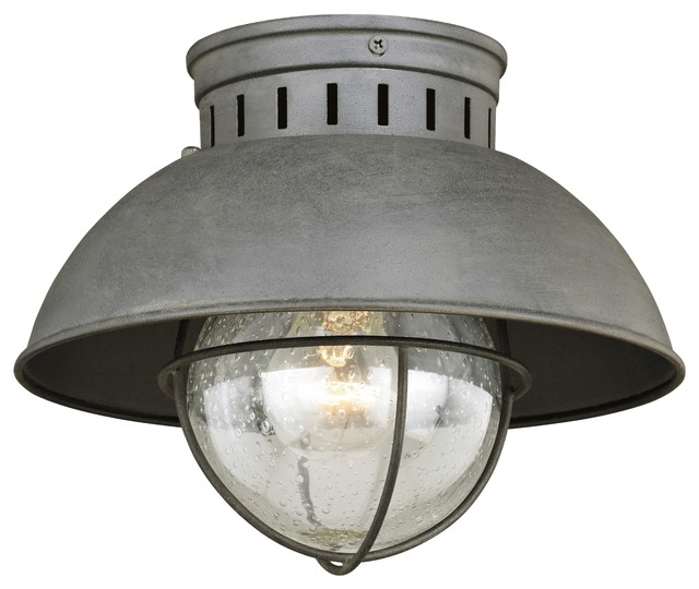 "Harwich 10"" Outdoor Flush Mount Light Textured"